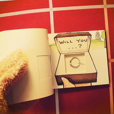 手翻书动画求婚表白神器浪漫情人节创意生日礼物送女友挖洞藏戒指