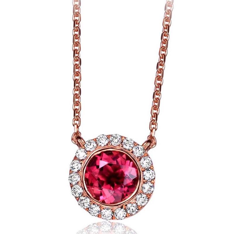 碧玺钻石项链