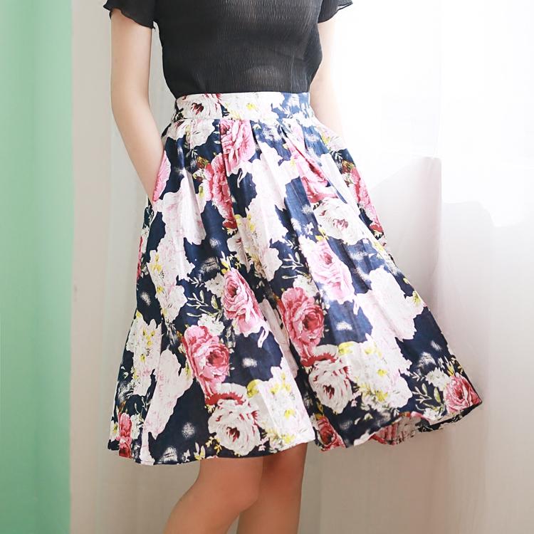 大花花蓬蓬短裙