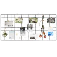 Grid photo wall decoration iron frame room layout girl ins net red dormitory rope clip hanging no trace nail