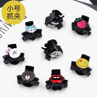 韓國可愛小號劉海夾抓夾發夾卡子卡通小熊夾子兒童小女孩發卡頭飾最新最全資訊