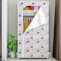 实木柜子阳台储物柜防晒简约卧室带门衣柜家用大容量棉被子收纳柜