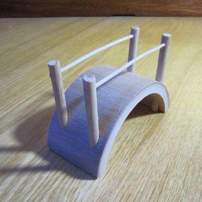 园艺模型 家居装饰品 竹木家具 手工艺小摆设 组合迷你竹桥、拱桥
