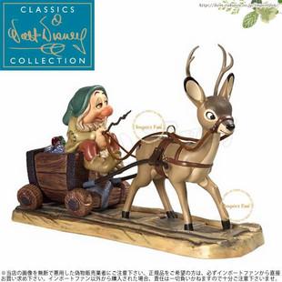 海外代购 陶瓷摆件 WDCC白雪公主和七个小矮人坐鹿车装饰品