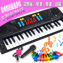 Childrens electronic piano 37-key electronic pianist multifunctional puzzle toy childrens piano with microphone