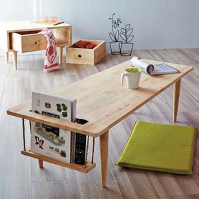 北欧实木茶几现代简约小户型客厅创意原木小桌子日式时尚个性茶桌