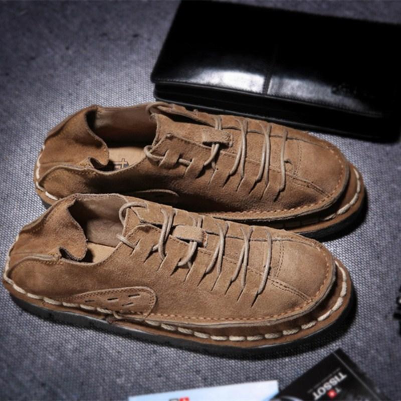 日系男鞋子透氣休閑鞋