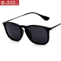 韩版偏光太阳镜男女潮人开车墨镜复古时尚款司机方形驾驶太阳眼镜