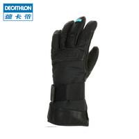迪卡侬 男女羊皮保暖手套 防水防风分指 滑雪手套 WEDZE3