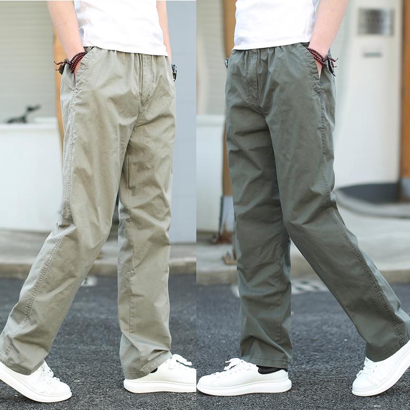 长裤子男运动青年直筒