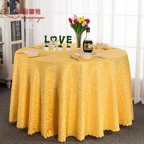 酒店桌布布艺圆形餐桌布饭店餐厅家用台布定制欧式方桌大圆桌桌布