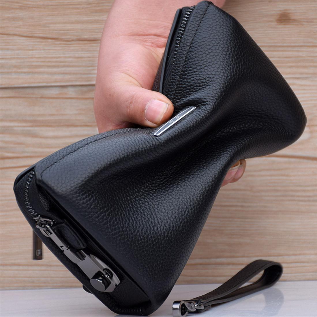 真皮手拿包男包手包男士手抓包大容量夹包商务头层牛皮软皮包包潮