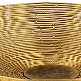 Gold silk imported from Lower City Park, New York, handmade decorative bowls