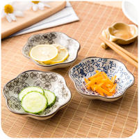 Home-style seasoning dish home dining dish-flavored dish boneware Creative ceramic tableware dish dish plate small dish