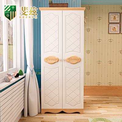 斐兹 欧式实木儿童衣柜 田园两门2门3门4门小衣橱 卧室套房家具