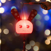 Rabbit lamp yuan dragon boat material package kindergarten school parent-child handmade chicken portable rabbit lantern large DIY