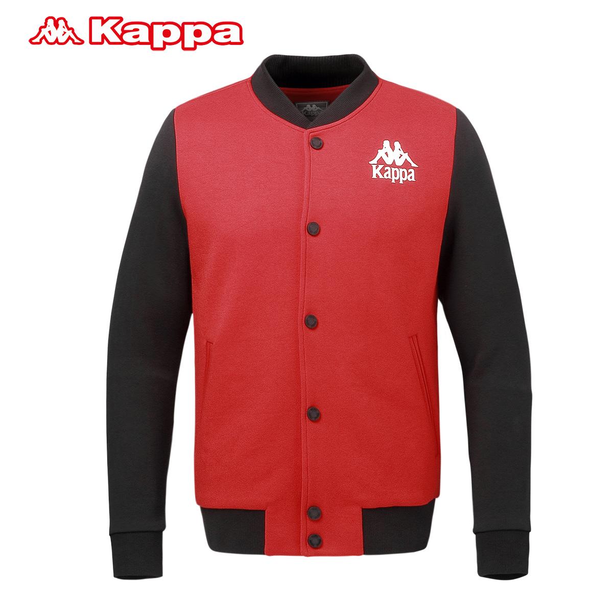 掌柜推荐Kappa/背靠背男卫衣休闲运动外套针织棒球服|K0612WK18