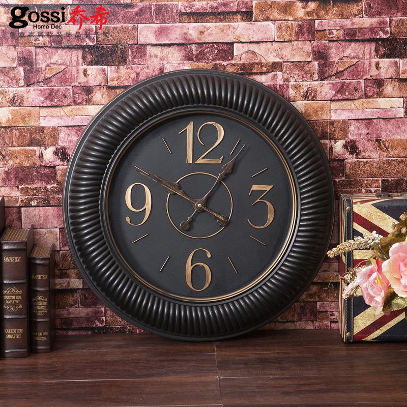 乔希欧式复古钟表挂钟客厅静音表创意装饰时钟餐厅办公室仿古钟3元优惠券
