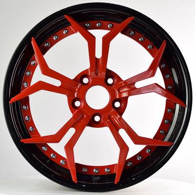 ZC锻造 HDBE 黑圈红 MINI Clubman 斯柯达 昊锐 19寸改装轮毂