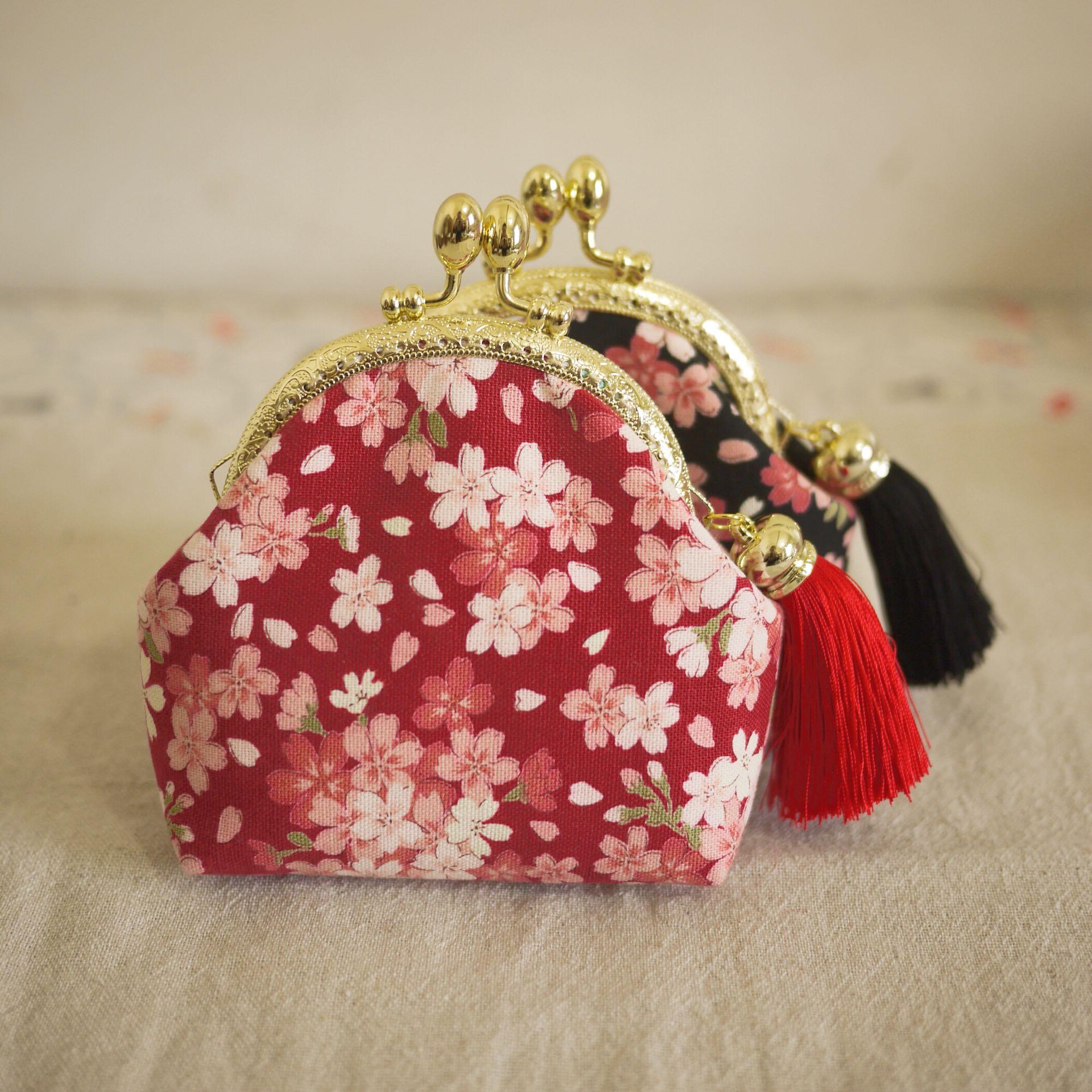 手工布艺樱花包