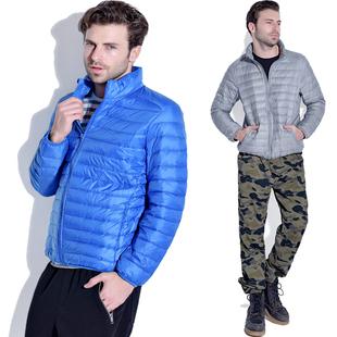 新款男款超轻薄羽绒服90绒立领休闲短款外套正品大码修身反季促销