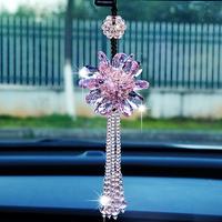 韩国汽车挂件车内饰品摆件车载女士挂饰车上后视镜水晶吊饰吊坠