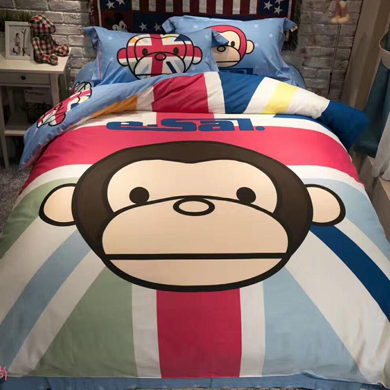 卡通猴子床单