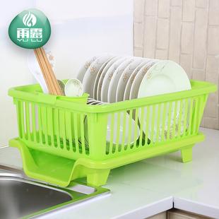 厨房滴水碗架碗碟沥水架 塑料角架 厨房小件用具碗柜厨具置物架