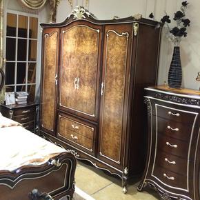 欧美 法式新古典 复古式 实木雕花 中高端卧室 多功能衣柜 奢华衣