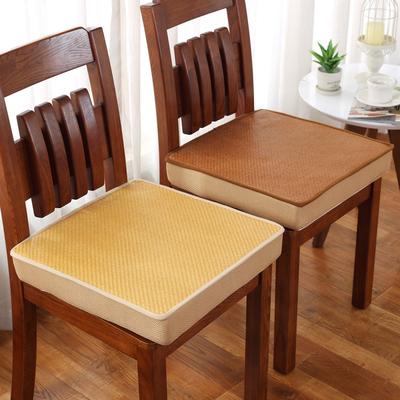 夏季天麻将凉席藤席增高椅子垫办公室学生坐垫汽车座垫餐椅垫凉垫