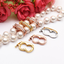 S925 Silver Accessory Material Pearl Necklace Clasp Sweater Chain Fixed Sandwich Clasp Diy Sweater Chain Separator Clasp