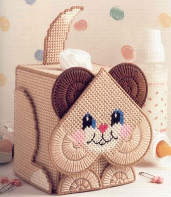 3D十字绣套件立体绣加粗毛线绣纸巾盒429可爱小猫抽纸盒DIY客厅