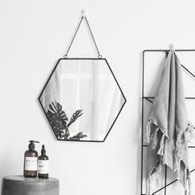 浴室镜子免打孔无框洗手间卫浴镜卫生间镜壁挂镜子粘贴化妆镜欧式