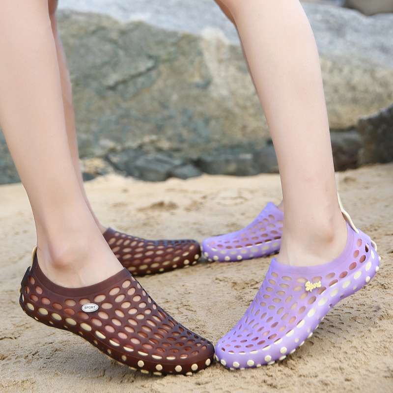 夏季花园洞洞鞋男沙滩鞋凉鞋鸟巢情侣鞋防滑拖鞋男夏沙滩鞋大码鞋