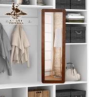 天一波尔卡穿衣镜全身镜旋转推拉衣柜镜柜内伸缩折叠试衣镜子壁挂