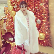 Baoyou Fall and Winter 2019 New Fur-like Overcoat, Mink-like Fur Suit, Large Turn-lapel Thermal Coat
