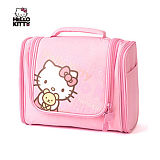 Hello Kitty travel wash bag female cartoon cute large capacity three-door cosmetic bag travel storage bag