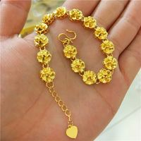 2018 new gold shop with the flower bracelet Vietnam Shajin ladies bracelet European currency jewelry Wedding long time does not fade