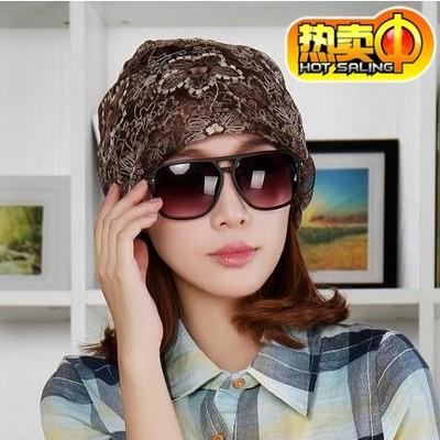 韩版夏季帽子女薄款宽松透气月子帽化疗帽光头帽产妇帽蕾丝包头帽