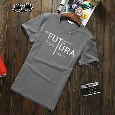 短袖t恤 男士半袖小衫青年商务休闲打底衫夏季莱卡棉圆领印花潮流哪个品牌好