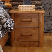 床边柜香柏木原木家具 纯实木原生态床头柜木头柜子储物柜灯柜