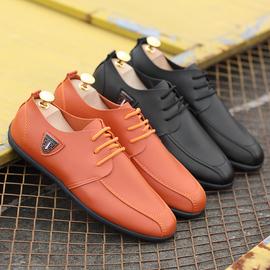 新款春季豆豆鞋男休闲皮鞋低帮韩版潮青年英伦百搭夏季社会鞋透气图片