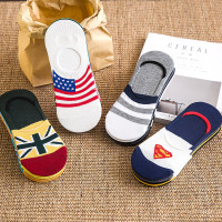 袜子男船袜男短袜冬季隐形袜浅口棉袜薄款低帮硅胶防滑男士男袜