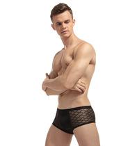 Sous-vêtements sexy pour hommes caleçons de caleçon respirant sexy À mailles larges