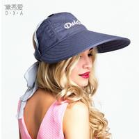帽子女夏天韩版遮阳帽女防紫外线可折叠骑车防晒太阳帽大沿户外帽