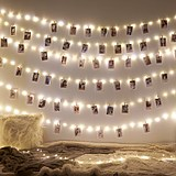 Inside room LED lamp string photo wall hemp rope clip girl heart chic decoration dormitory