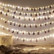 Ins room LED light string photo wall hemp rope clip girl heart chic decoration dormitory