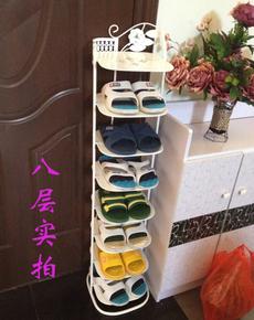拉奥孔创意欧式小拖鞋架柜客厅简易收纳金属六八多层家用铁艺鞋架