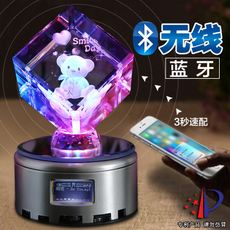 Diy crystal birthday gift girl to send girlfriend Xiaoxian girl rotating music box music box sky city