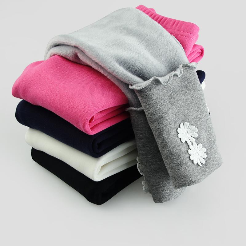 女童裤冬款加绒加厚